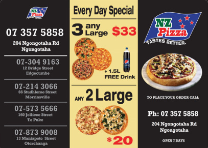 Pizza deals in Ngongotaha