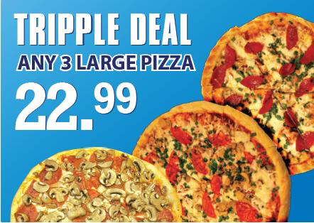 Pizza combo deal specials